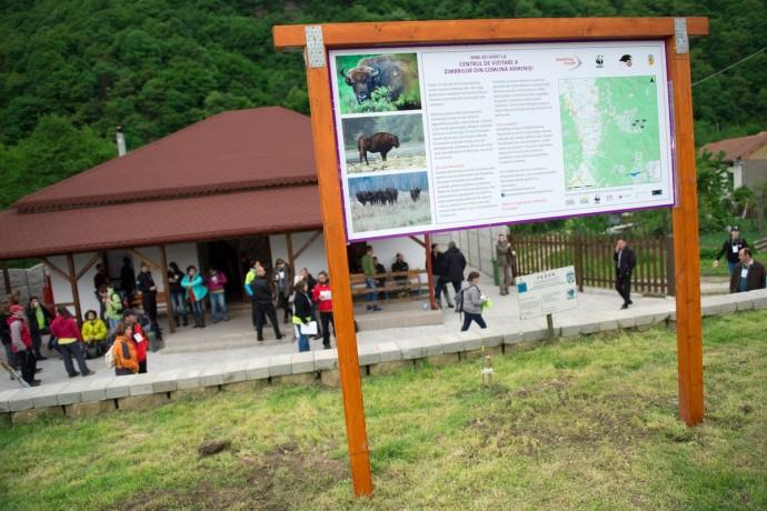 Southern Carpathians visitors centre in Armeniş, Caras-Severin County, Romania.