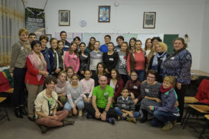 The rewilding project team met with representatives of five schools in the Southern Carpathians to launch the education programme.