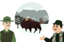 Animation on bison-human coexistence